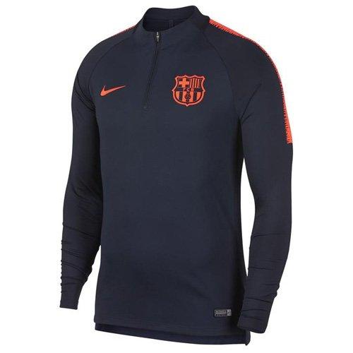 fdc30769c1e Nike FC Barcelona Youth Squad Drill Top Obsidian HyperCrimson Small