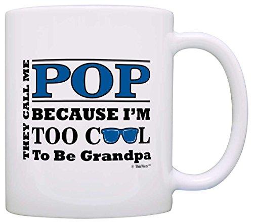 Fathers Grandpa Sunglasses Coffee White