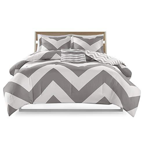 Mi-Zone MZ10-335 Libra Comforter Set, Full/Queen, Grey