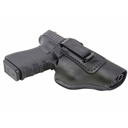The-Defender-Leather-IWB-Holster-Lifetime-Warranty-Made-in-USA-For-SW-MP-Shield-GLOCK-17-19-22-23-32-33-Springfield-XD-XDS-Plus-All-Similar-Sized-Handguns