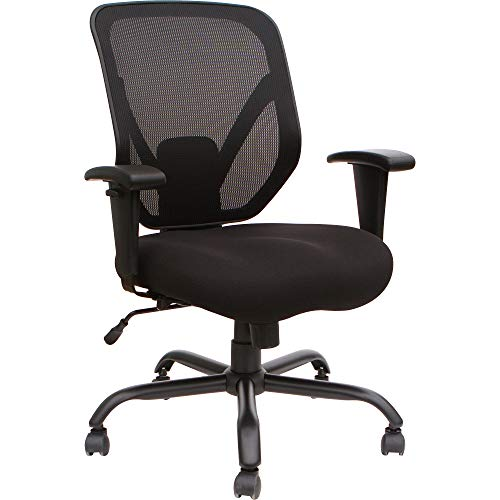 Lorell LLR81804 Soho Big & Tall Mesh Back Chair, Black
