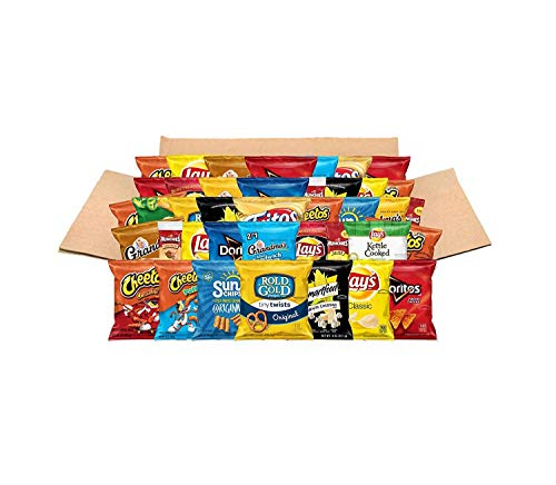 Ultimate Snacks Care Package, Classic Variety Assortment of Chips, Cookies, Crackers, & Nuts, 40 -