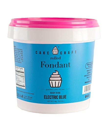 Cake Craft Rolled Fondant - Electric Blue / Vanilla, 2.2lbs