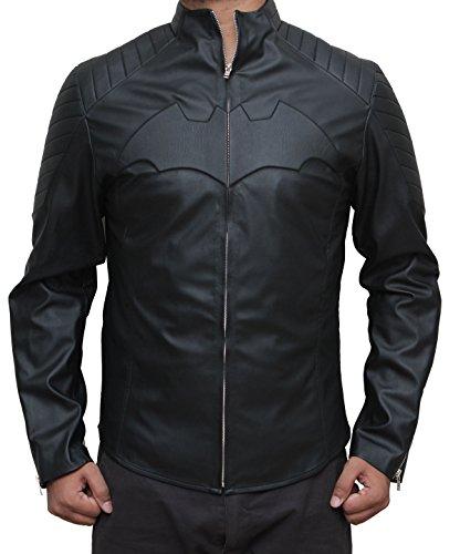 Decrum The Dark Knight Rises Batman Motorcycle Jacket - Men Leather Jacket, XXL