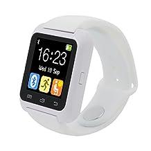 HP95 Bluetooth Smart Watch,U80 Smart Wrist Watch Sleep Monitor Sport Pedometer for iPhone LG Samsung (White)