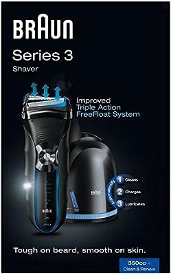 Braun Series 3 350cc-4 - Afeitadora con sistema Clean & Renew: Amazon.es: Salud y cuidado personal