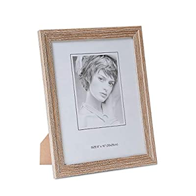 Metrekey Picture Frame (3 Pack, Oak Wood Finish), Photo Frame,for Table Top Display and Wall mounting Photo Frame