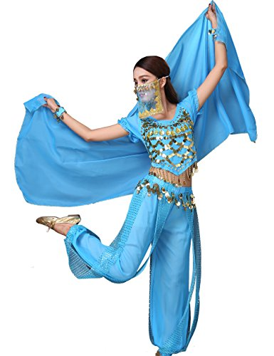 Astage Lady Belly Dancer Costume Halloweem Performance Wear All (Adult Belly Dancer Costume)