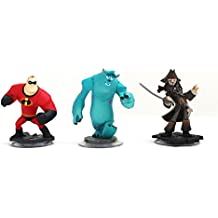 Disney Infinity Characters Jack Sparrow Mr Incredible, Monster Inc Sully Wii ...