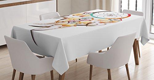 Tablecloth Ambesonne Dreamcatcher Indigenous Rectangular