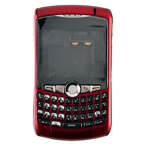 Housing (Complete) for BlackBerry 8300, 8310, 8320 Curve (Red) with Glue Card