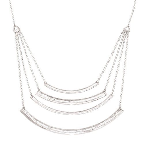 Arc Necklace - Silpada 'Hammered Arc' Sterling Silver Layered Bar Necklace, 20