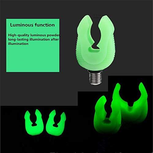 PinShang 4/pcs Fluorescent en Caoutchouc Support pour Canne /à p/êche /à la Carpe Repose-Cannes Grips Tackle Gripper Reste