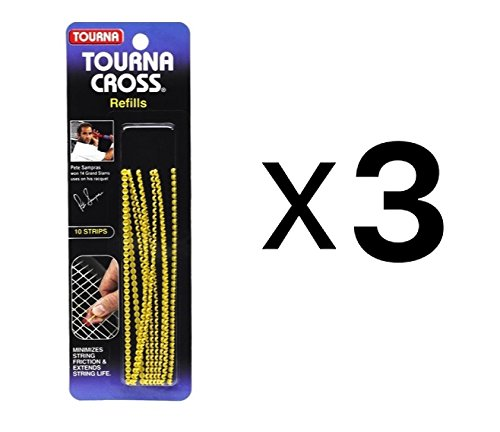 Unique Tourna Cross Sampras Tennis Racquet String Saver-Refills-10 Pack (3-Pack)