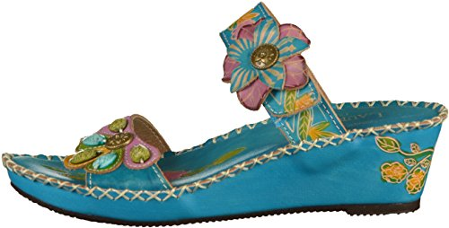 Laura Vita Betsy63 Sd368-63 Dames Muilezels Turquoise
