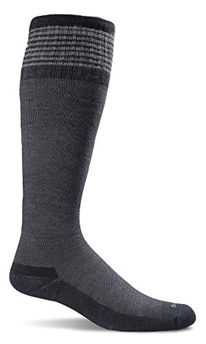(Sockwell Women's Elevation Firm Graduated Compression Socks, Black Solid)
