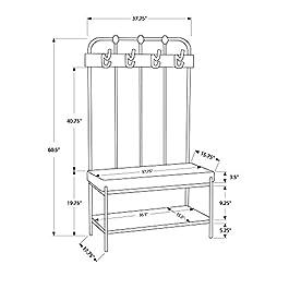 Monarch Specialties Bench – 60″ H Meta...