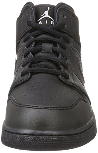 Nike 554725-044, Zapatillas de Baloncesto para Niños Negro (Black / White)