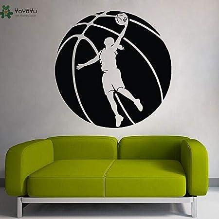 nkfrjz Calcomanía Baloncesto Chica Deporte Niños Habitación Papel ...