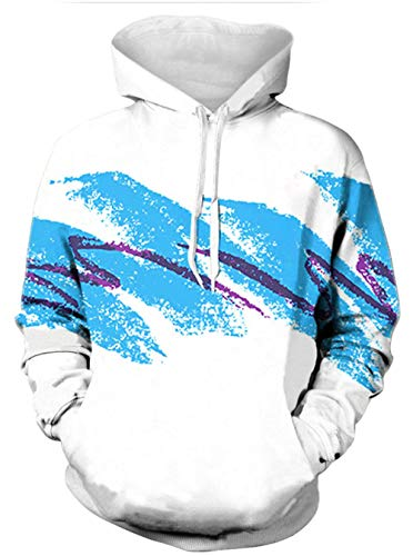 Leapparel Men/Women 3D Printed Hoodie 80s Clothing Jazz Solo Pullover Sweatshirts Couples Sweater Funny Cool Shirts XL