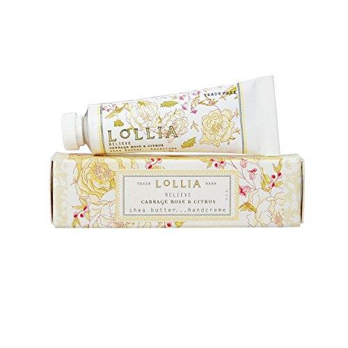 Lollia BELIEVE Cabbage Rose & Citrus Shea Butter Handcream 1