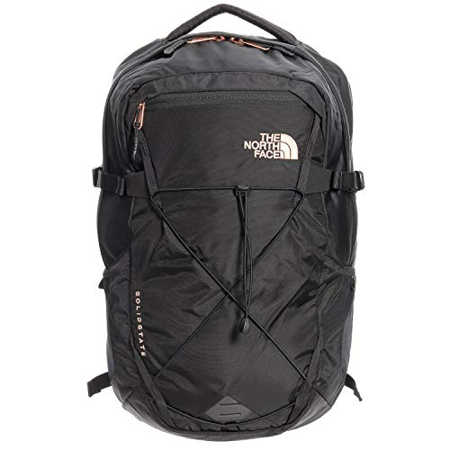The North Face Women's Solid State Laptop Backpack, Black/Rose Gold
