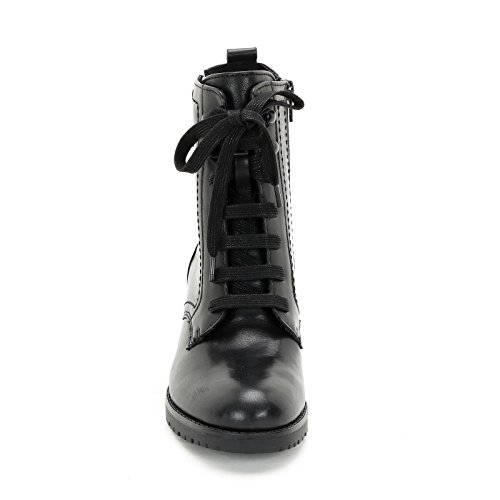 Alesya by Scarpe&Scarpe - Boots mit Seitlichem Reißverschluss, Leder, mit Absätzen 5 cm Schwarz