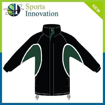 Waterproof Training Top Full Zip - Black Green - L  Amazon.co.uk ... d0fa23ea9