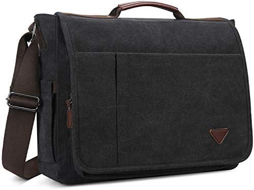 Casual Canvas Satchel Laptop Computer for Men Women Student Traveling Camping Shoulder Bag Sunset Red Unicorn Large Messenger Bag
