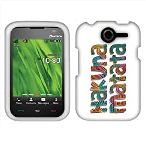Viesrod FINCIBO (TM) Protector Cover Case Snap On Hard Crystal Front And Back For Pantech Renue P6030 - Hakuna Matata