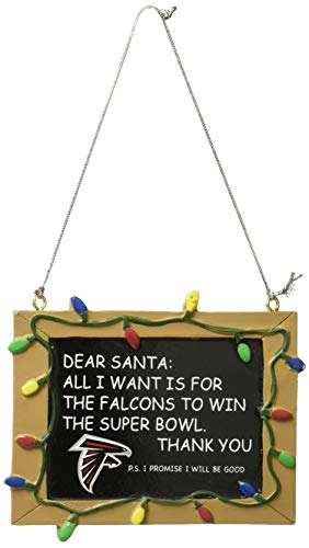 Atlanta Falcons Resin Chalkboard Sign Ornament (Ornaments Atlanta Christmas Falcons)