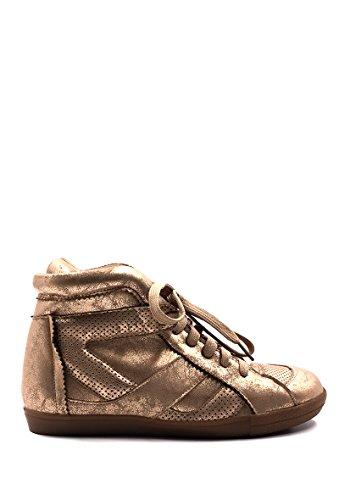 Chaussure Métalisé Or Chic Style Mode Nana Similicuir Baskets Femme qFF64Cw