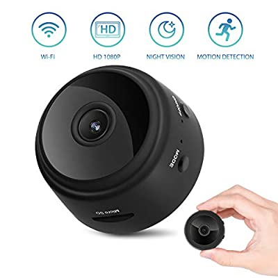 Hidden Camera, WiFi HD 1080P Mini Spy Camera, Wireless Indoor Security Nanny Cam with Motion Detection Night Vision Compatible with iPhone/Android Phone/iPad from iFlyCam