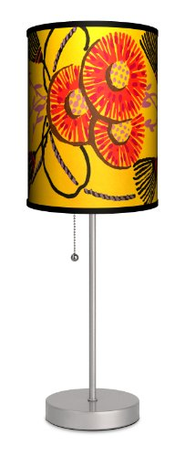 Art Deco Shade - Dcor Art - Art Deco Tassles and Flowers Sport Silver Lamp