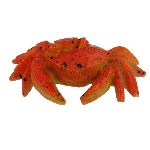 - Uxcell Aquarium Emulation Little Crab Inlaid Brachyura, Orange/Red