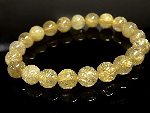 パワーストーン 天然石 ゴールドルチル ルチルクォーツ 金針水晶 ブレスレット 9~9.5mm 【Felistone】 GORB86   B07SWWHHYQ