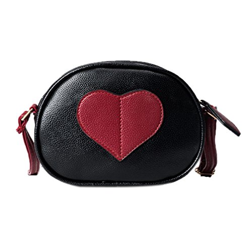 Round Heart Shoulder Women Hometom Black Bag Shaped 5tIaHPcwq