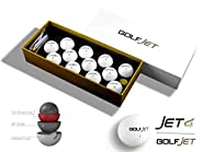 One Dozen Premium GolfJet JET4 Golf Balls. 4-Layer Twin Power Core, UltraSoft 338 Dimple Hex Aero Urethane Cover. Longer Drives, More Game Spin, Optimum Feel For Ultimate Control.