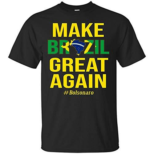 (Jair Bolsonaro Presidente Brasil 2018 T Shirt Make Brazil Great Again Gift Tee (Unisex)