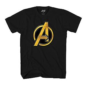 Marvel Avengers Infinity War Logo A Symbol Mens T-Shirt (Medium, Black)