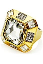 Juicy Couture Women's Glam Couture Faceted Cocktail Ring Gold