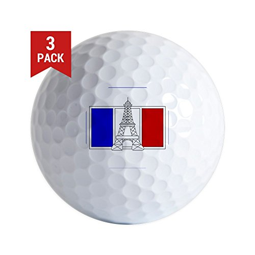 - CafePress - Eiffel Tower Drawing W/French Flag - Golf Balls (3-Pack), Unique Printed Golf Balls