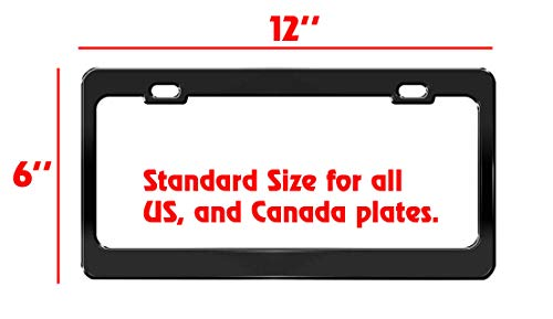 Product Express American Staghound Dog Paw Print License Plate Frame Tag Cover & Holder Black 5