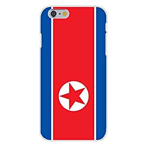 Apple iphone 6 plusd 5.5 Custom Case White Plastic Snap On - North Korea - World Country National Flags