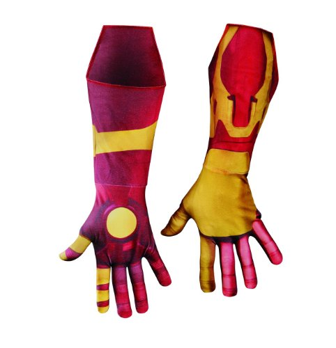 Disguise Marvel Iron Man 3 Mark 42 Deluxe Adult Gloves Costume Accessory, Gold/Red, One Size (Iron Man Mark 42 Deluxe Costume)