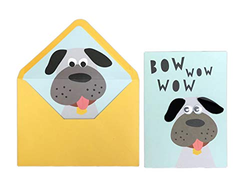 - Bow Wow Wow Cute Embellished Dog Face with Googly Eyes 5