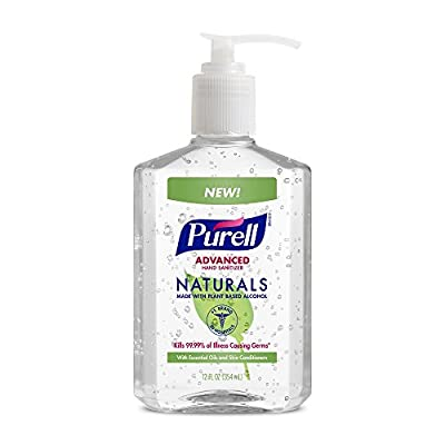 PURELL Advanced Hand Sanitizer NATURALS 12oz Pump Bottle