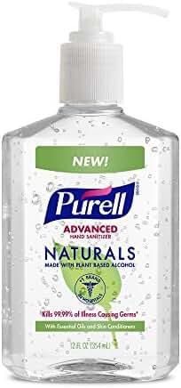 PURELL Advanced Hand Sanitizer NATURALS 12oz Pump Bottle (Pack of 2)