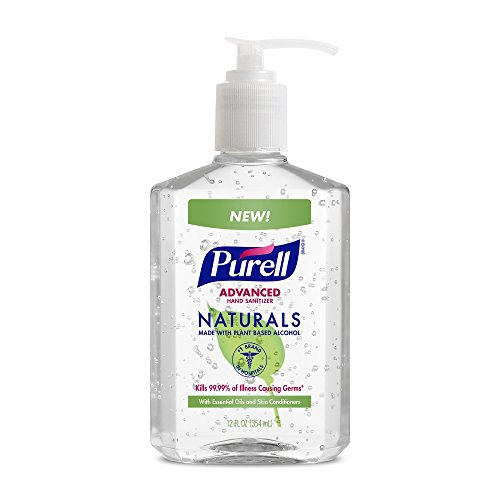 : PURELL Naturals Advanced Hand Sanitizer - Hand Sanitizer Gel with Essential Oils, 12 fl oz Pump Bottle (Pack of 2) - 9629-06-EC