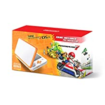 Nintendo 2DS XL, White/Orange con Juego Mario Kart 7 - Bundle Edition